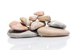 Jardin japonais de pierre de zen d'isolement sur le blanc Photographie stock