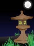 Jardin japonais la nuit Photographie stock