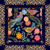 Jardin japonais Oiseaux et fleurs Images libres de droits