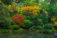 Jardin japonais, Portland Orégon - 1er novembre 2014 Couleurs d'automne en automne Photographie stock