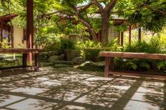 Jardin japonais tranquille d'amitié au parc de Balboa en Di de San Images stock