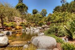 Jardin japonais tranquille d'amitié au parc de Balboa en Di de San Images libres de droits
