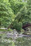 Jardin japonais, usines exotiques, ressort, Wroclaw, Pologne image stock