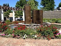 Jardin juste de promenade de chênes Image stock