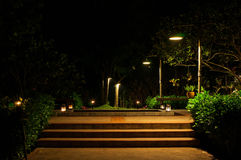 Jardin la nuit Image stock