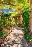 Jardin méditerranéen de maison Photographie stock