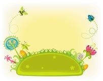 Jardin magique de source de Pâques. illustration stock