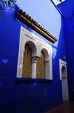 Jardin Majorelle庭院在马拉喀什,摩洛哥 免版税库存照片