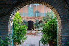 Jardin Majorelle door Yves Saint Laurent Stock Afbeeldingen