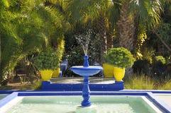 Jardin Majorelle in Marrakech stock photography