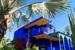 Jardin Majorelle ??? ?? Yves Saint Laurent Μπλε φέουδο στοκ εικόνες με δικαίωμα ελεύθερης χρήσης