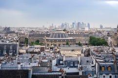 Jardin Nelson Mandela Covered Market with Paris Skyline Royalty Free Stock Images