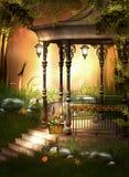 Jardin orange Images libres de droits