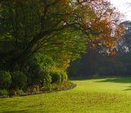 Jardin paisible en automne Photographie stock libre de droits