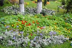 Jardin près du monastère Image stock