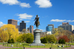 Jardin public de Boston Photos libres de droits