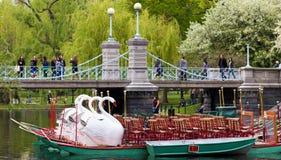 Jardin public de Boston au printemps Photographie stock libre de droits