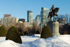 Jardin public de Boston en hiver Photo libre de droits