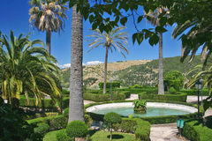 Jardin public en Sicile photo stock