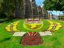 Jardin Public et eglise de St-Leonard, Fougeres ( France ) Stock Photos