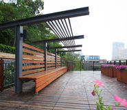 Jardin résidentiel en Chine Image stock