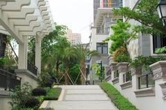 Jardin résidentiel en Chine Photos libres de droits