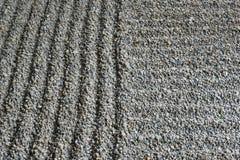 Jardin ratissé de sable Photo stock