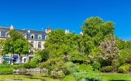 Jardin sur l'endroit Gambetta en Bordeaux, France images libres de droits