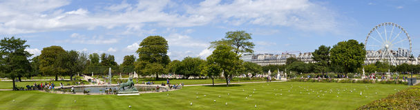 Jardin Tuileries in Paris Royalty Free Stock Photo