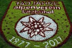 Jardin vert à Kitzbuhel, Autriche, 140 Jahre Image libre de droits