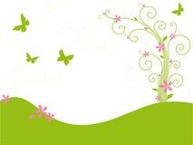 Jardin vert avec des guindineaux Images libres de droits