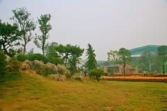 Jardin vert d'expo à Zhengzhou Photographie stock