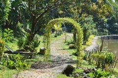 Jardin vert dans le côté de pays Photographie stock