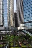 Jardin vert sur la ville Images libres de droits