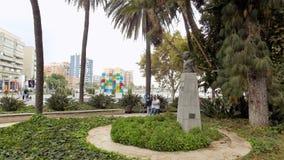 Jardina o parque de Malaga-Andaluzia-Europa Imagem de Stock