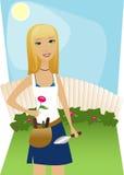 Jardinage d'arrière-cour Illustration Libre de Droits
