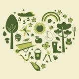 Jardinage de coeur Images stock