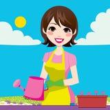 Jardinage de femme Image libre de droits