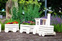 Jardinage de fleur de paysage Photographie stock libre de droits