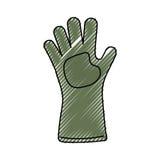 Jardinage de gant d'isolement Images stock