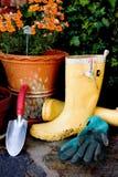 Jardinage de source Photo libre de droits
