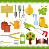 Jardinage, et outils de jardin/matériels Photos stock