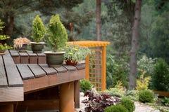 Jardinagem ao ar livre na floresta Imagens de Stock