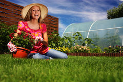 Jardinagem da mola Fotos de Stock
