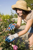 Jardinagem da mulher foto de stock royalty free