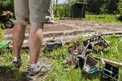Jardinagem do homem Foto de Stock