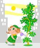 Jardinagem na cidade Imagem de Stock Royalty Free