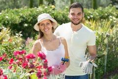 Jardinagem nova dos pares fotografia de stock royalty free