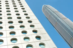 Jardine议院和IFC摩天大楼,中部区,香港 库存照片