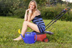 Jardineiro bonito Imagens de Stock